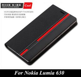 2017 mélanger le cas de la mode Gros-luxe sac portefeuille debout couleurs mélangées Top PYTHORE de cas en cuir pour Nokia Lumia 630 635 mode couverture de téléphone N630 avec fente pour carte mélanger le cas de la mode autorisation