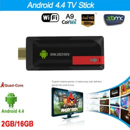 Androide tv stick dlna online-RK3188T MK809IV Mini PC Android 4.4 TV Stick Dongle Quad Core 2G/16G XBMC DLNA WiFi Bluetooth 4.0 Android tv dongle airplay V1110