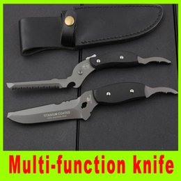 Wholesale Promotion multi function tool knife Forceps Saw Cr17 blade full stell G10 handle popular outdoor gear knife best gift L