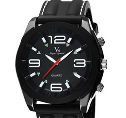 Wholesale 2015 Hot sale New V6 Casual Quartz Men Watches student Sport Wristwatch Dropship silicone Clock Fashion Hours Dress Watch CHRISTMAS GIFT