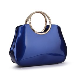Wholesale HOT International Fashion Women PU Leather Handbags Star New Classic Blue Shell Pack Dinner