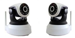 Wholesale WIFI IR LED Way Audio Wireless IP Camera Nightvision P2P Free Iphone Android App Software XXC T