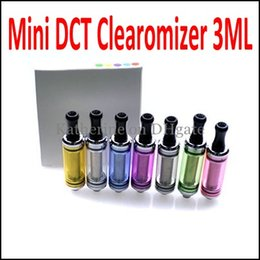 DCT Cartomizers Mini DCT Atomizers DCT Tank 3.0ml for eGo E Cigarette Electronic Cigarette eGo-T EVOD Vision Twist Battery DCT Clearomizers