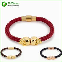 (10 pcs )BC Jewelry Wholesale-Hot Selling Fashion Mens Genuine Leather Braided Northskull Bracelets Free Shipping BC-023