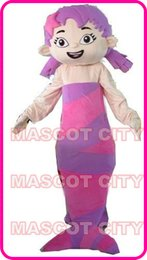 Wholesale Best Price Pink Bubble Guppies Molly Girl Mascot Costume Adult Size Mermaid Carnival Costumes Cartoon Wear Characters Party Cost