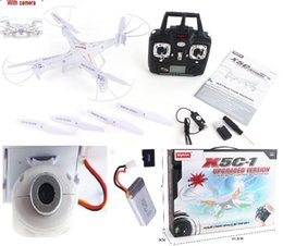 Wholesale-quadrocopter syma x5c-1 Upgrade drone syma x5c rc helicopter with camera 2 mp hd camera or quadcopter syma x5 without camera