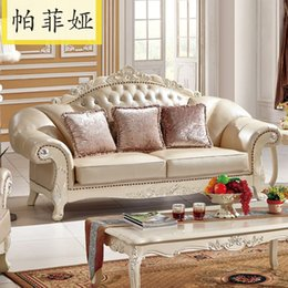 Wholesale Paphia French style European style living room sofa leather sofa living room furniture A325