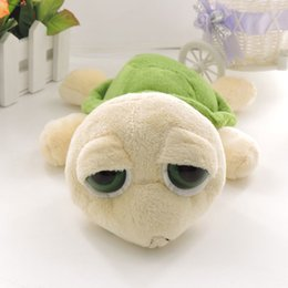 Wholesale Stuffed Turtles Big Eyes - (1 piece) 23cm Big Eyes Green Turtles Stuffed Plush Animals Dolls Tortoise Soft Toys for Children Birthday Gift Souvenirs