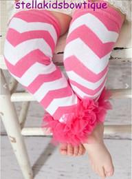 Wholesale-Newborn Prop,Baby Leg Warmer,Baby Girls Leg Warmer,Hot Pink Chevron Ruffle Warmers