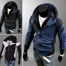 Wholesale Plus size Sports Hooded Jacket Casual Autumn Jackets hoody sportswear Assassins Creed Men s Clothing Hoodies Sweatshirts