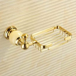 Wholesale bathroom soap dishes with gold color finishing brand new