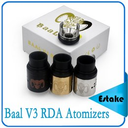 Baal V3 RDA Atomizers Baal 3.0 rebuidable dripping atomizer Airflow Control With Wide Bore Drip Tips Baal 3 Peek Insulators 0267002