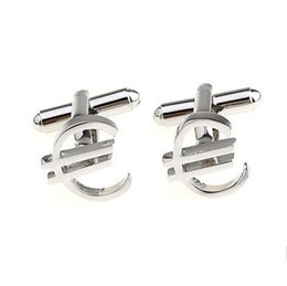 Dollar,Euro Cufflinks French Cufflinks Mens Sleeve Nail Gold Silver