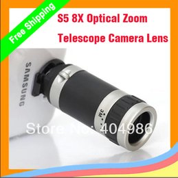 Wholesale 10pcs X Optical Zoom Telescope Camera Lens Mobile Phone Telescope For Samsung Galaxy S5 G900 i9600 Retail freeshipping