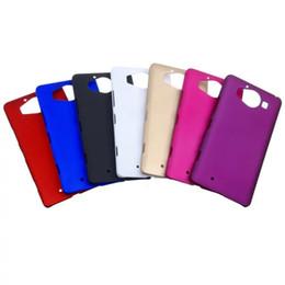 Lumia cubierta dura recubierta de goma en Línea-Aceite de goma mate de la caja dura de la PC para HTC UNO A9 Samsung Galaxy ON7 Nokia Lumia 950 XL 950XL esmerilado posterior del plástico de la piel cubierta de teléfono móvil