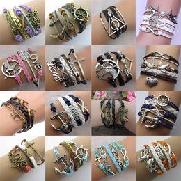 Infinity bracelets HI-Q Jewelry fashion Mixed Lots Infinity Charm Bracelets Silver lots Style new fashion E28J