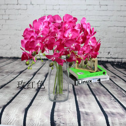 Mix color Artificial Butterfly orchid Blossom flower branch home garden shop wedding decoration Christmas 50pcs lot Christmas decoration