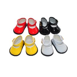 Wholesale factory price Environmental protection quot INCH DOLL SHOES for AMERICAN GIRL black white yellow red ballet shoe