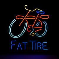 Wholesale MN61 Fat Tire Bicycle neon sign lights quot x15 quot for store display party lights advertising art