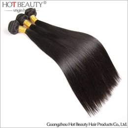 Wholesale 100 Brazilian Hair Bundles Virgin Hair Human Hair Extension Weaves Weft Natural Color Silky Straight Hot Beauty Hair