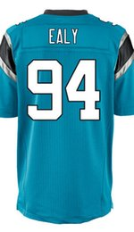 Wholesale Factory Outlet Men s Kony Ealy Jersey Elite White Black Baby Blue Stitched Name And Number