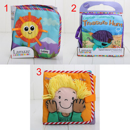 Wholesale 4 styles To Choose Lamaze Books Lamaze Baby s Early Development Toys Cloth Book Fairy tale story baby kids toys