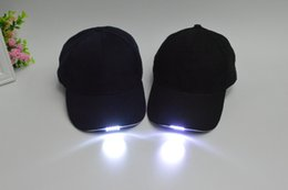 Wholesale 2015 hot Baseball cap led lights glow cap hat Night fishing fishing cap Hat can lighting the camping trip hats Z00401