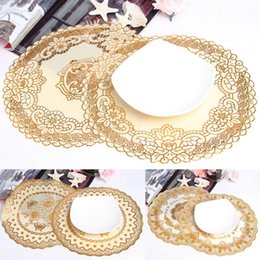 Wholesale Noble Placemat Table Mat PVC Insulation Anti Slip Circle Cup Pads Cup Mats Hotel Placemat Home Tablemat QBN