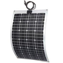 Wholesale 60W ETFE Semi flexible solar panel for RV yacht vehicle fiberglass aluminum material back sheet