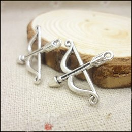 Wholesale Vintage Charms Bow and arrow Pendant Antique silver Fit Bracelets Necklace DIY Metal Jewelry Making