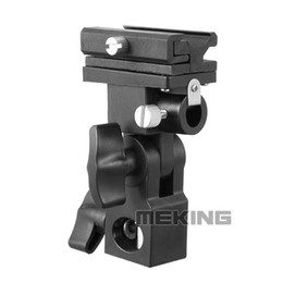 Meking flash Hotshoe Adapter Bracket B Umbrella Mont Holder pivotant pour Stand Lumière Speedlite A5 à partir de fabricateur