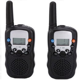 Wholesale Walkie Talkie portable ham radio T Black Mini Wireless LCD KM UHF VOX Multi Channels transceiver Way Radio