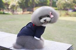 Camisas novas do partido à venda-Roupa do cão roupa nova do cão da peluche da chegada Camisas pequenas do cão do filhote de cachorro do fato do partido do banquete de casamento do Dovetail