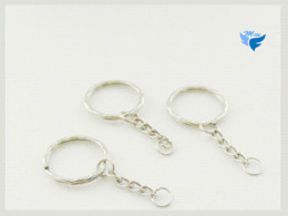 Free Shipping Fashion Accessories 25mm 50pcs bag key chain ring for jewelry making ring accessories ring