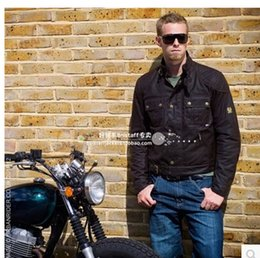 2017 chaquetas de los hombres de cera caída libre de la chaqueta de los hombres buque MOJAVE BROOKLANDS Steve McQueen chaqueta de la motocicleta de la chaqueta impermeable encerado chaquetas de los hombres de cera en oferta