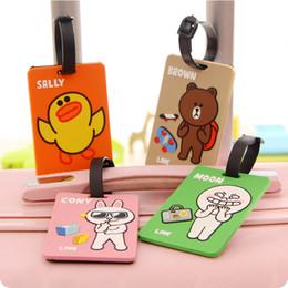 Wholesale-Korea Creative cute cartoon luggage tag boarding Brown Bear luggage tag checked luggage brand