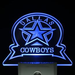 Promotion signes de cow-boy Gros-ws0142 Dallas Cowboys Sport Bar Jour / Nuit capteur Led Night Light Sign