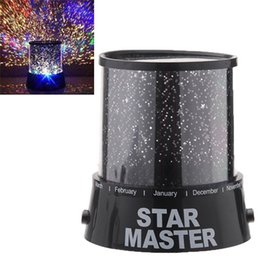 Wholesale Star Wedding Led Lights - Amazing Colorful Star Master Projector Flashing Night Light led novelty lights H12416