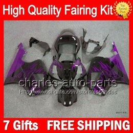 7gifts+Purple flames Bodywork For HONDA VTR1000 00-07 VTR 1000 RC51 SP1 SP2 46LC33 VTR1000R RTV1000 2000 2001 2002 2003 07 Blk Fairing Kit