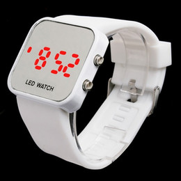 Wholesale Fashion Sport LED Digital Watch Silicone Band Women Watch For Gift 100pcs Free Shipping