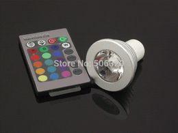 3W E27 GU10 E14 RGB LED Downlight RGB AC85-265 de bulbo del LED con teledirigido 16 que cambia de color RGB LED Spotlight desde cambiar las bombillas downlight fabricantes