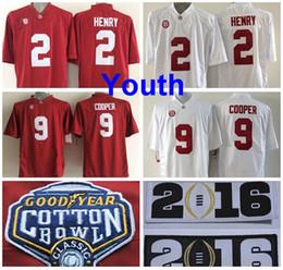 Wholesale Factory Outlet Youth Alabama Crimson Tide Jerseys Cotton Bowl College Derrick Henry Jersey Kids Amari Cooper Children Football Jer