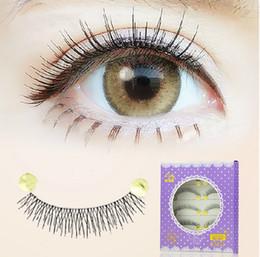 Daily makeup lash handmade false eyelashes 026# naked makeup fake lashes extensions transparent stem eye lashes natural crisscross eyelashes