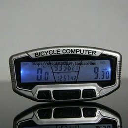 Wholesale Sd 558a - Mabiao blue backlight bicycle odometer speed meter table apheliotropism mabiao sd-558a