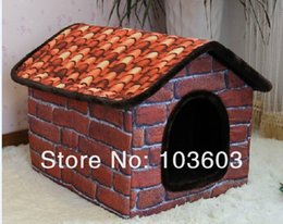 Wholesale New Arrival Villas Large Warm Soft Oxford Winter Pet Dog Houses Can Washable Golden Satsuma Husky Dogs Antique Brick Home Kennel