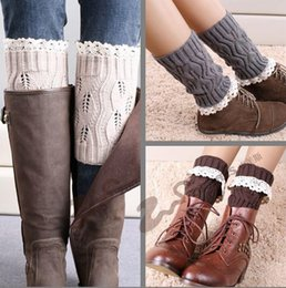 New Boot Cuff Fashion New Hot sale Crochet Boot Cuff women Lace Crochet Boot Cuff Lady warm lace knitted leg warmers LHG2
