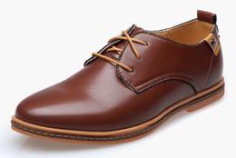 New fashion 2015 Men Shoes Leather Casual Lace up Brown Black Cheap Men Dress Shoes Oxford Men leather shoes Plus size 46,47