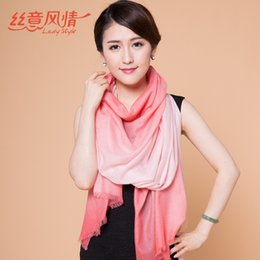 Wholesale New Gradient Wool Scarves European and American Fashion Women Shawl cm Styles