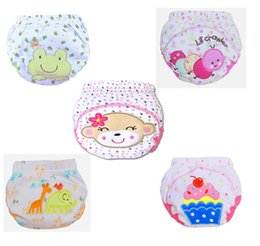 Wholesale New Born cotton baby cloth diapers cartoon learning WT482