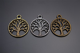 Top Sale ! 200piees 24mm Life's Tree Charms Silver Pendant connector 7117 DIY Jewelry Beads Hook Clasp Caps Craft infinity Europe Bracelet